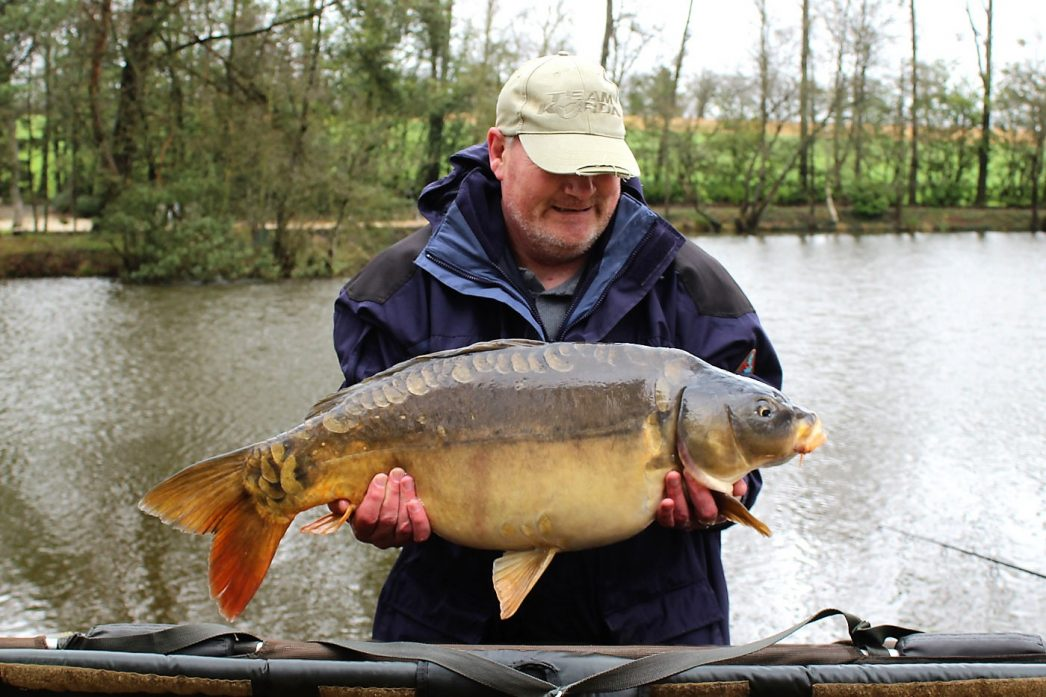 Mark with a mirror carp of 26lbs 4oz