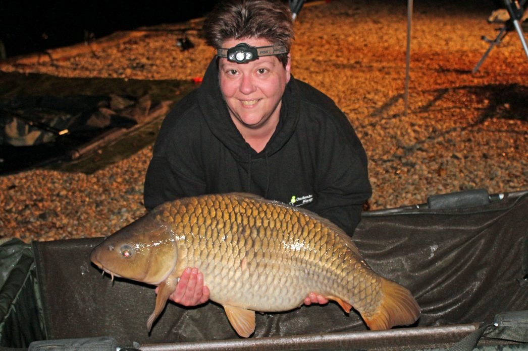 Loes with a 26lbs common carp