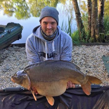 Andy with the Football at 37lbs