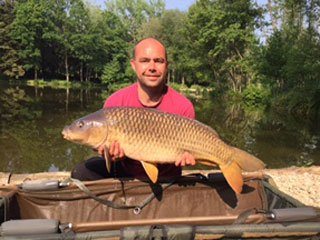 Ian with a 24lb common carp