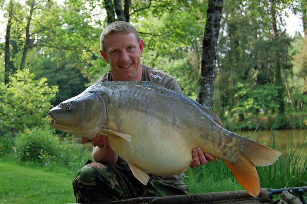John with Janus at 32lbs 12oz mirror carp france