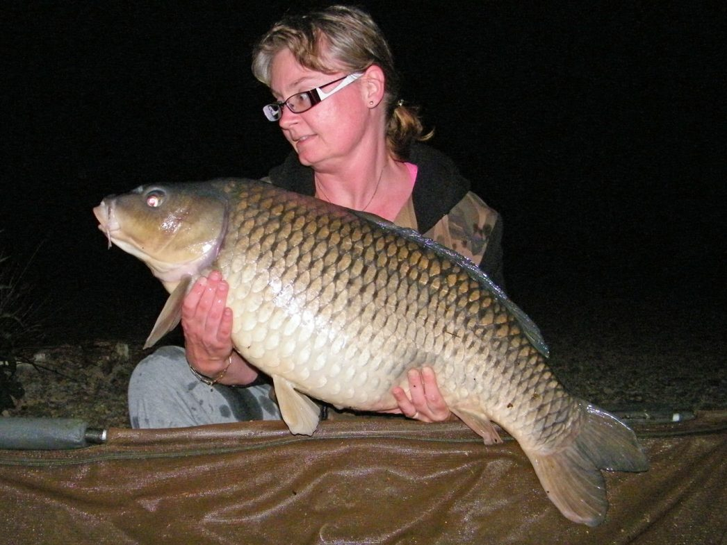 Nathalie with a 32lbs common