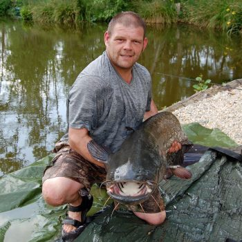 Paul with a 56lbs catfish