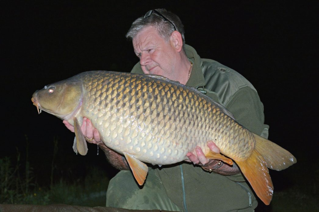 Tony with Bermuda at 34lbs common carp france
