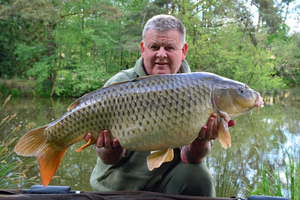 Tony with Patch at 33lbs common carp france