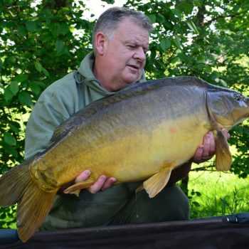 Tony with Red Dot at 26lbs 7oz mirror carp france
