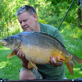 Tony with Split Tail at 26lbs mirror carp france