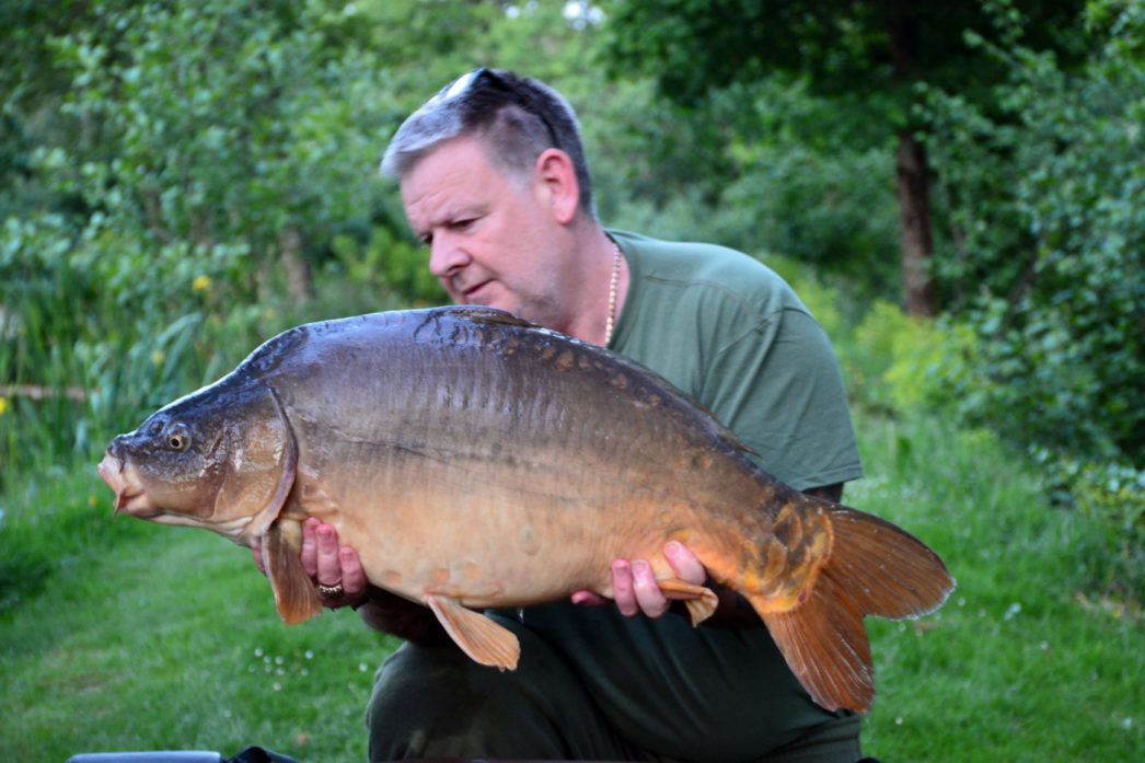 Tony with the Little Orange at 28lbs mirror carp france