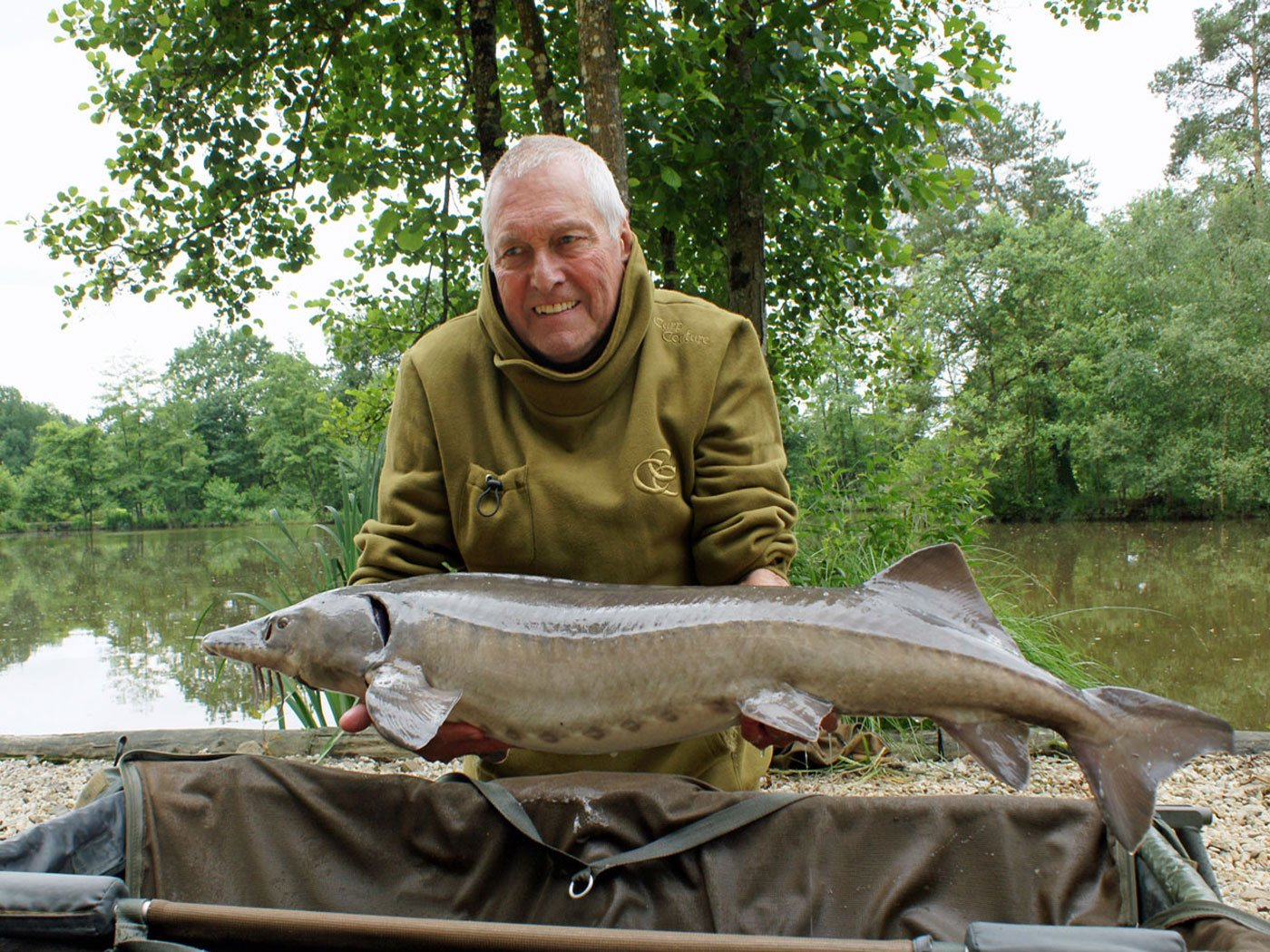 Barry with the sturgeon