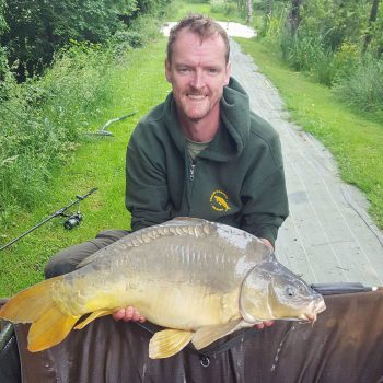 Colin with Batman at 30lbs 6oz mirror carp france