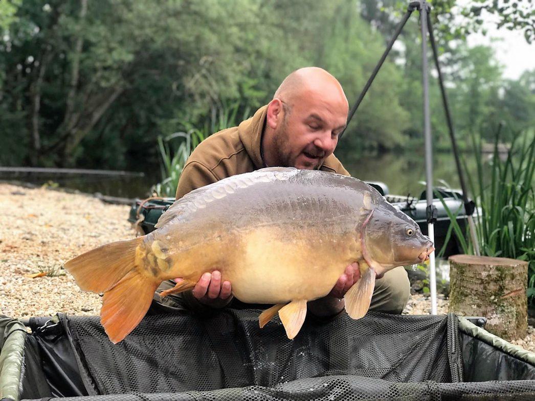 Ian with Horizon at top weight 41lbs 6oz