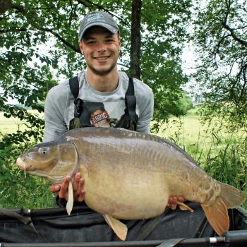 Josh with Mr Angry at 43lbs 13oz