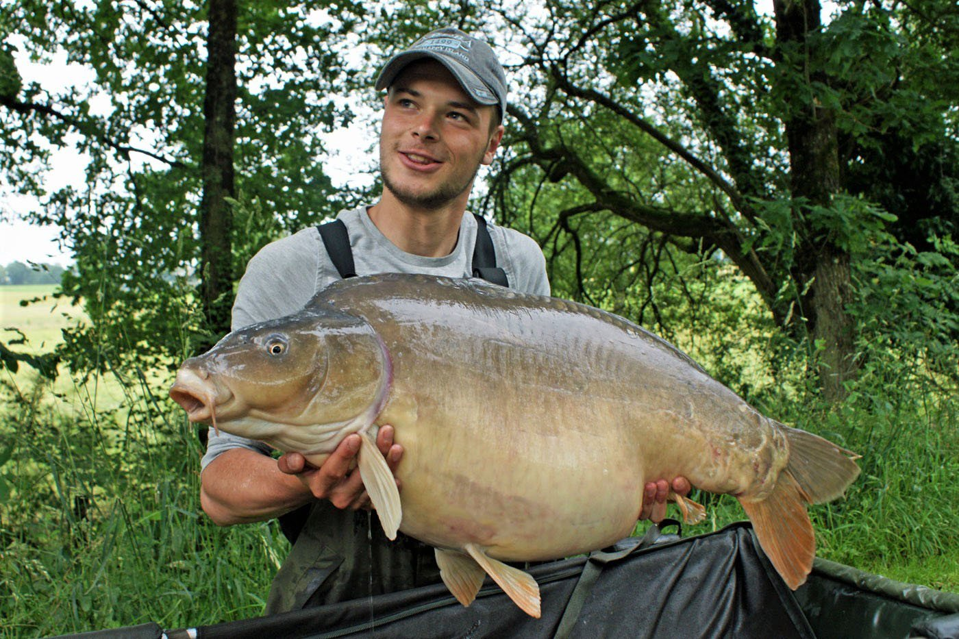 Josh with Mr Angry lake record 43lbs 13oz
