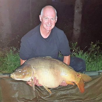 Dave with Dink at 41lbs mirror carp in france
