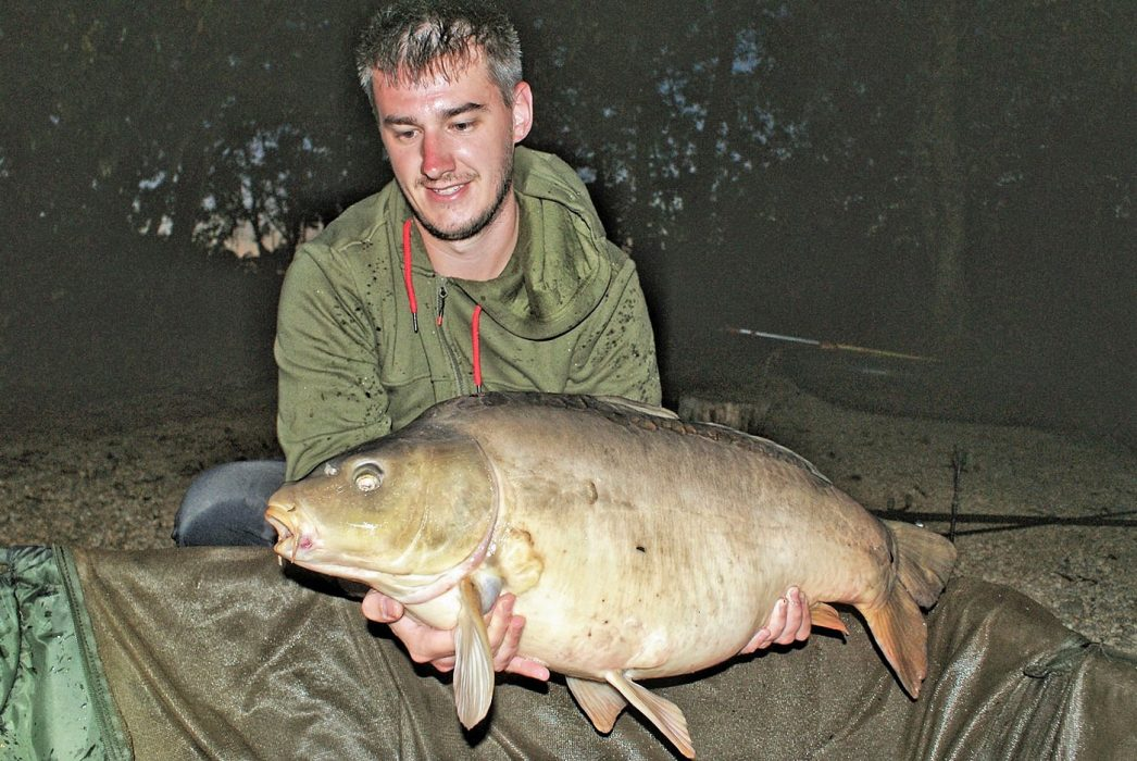 Luke with Merlin at 26lbs mirror carp