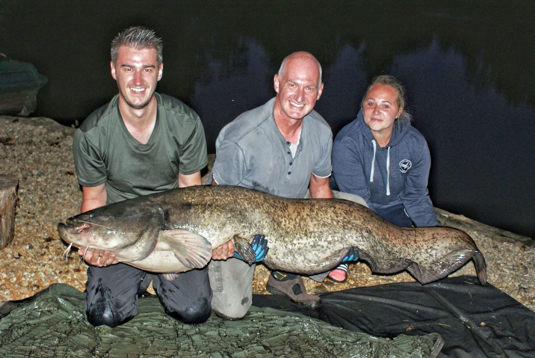 Luke with a 107lb catfish