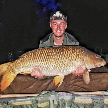 Luke with a 26lb common carp