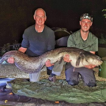 Luke with a 96lb catfish
