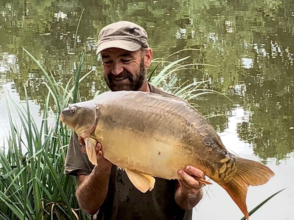 Chris with Spot at 24lbs