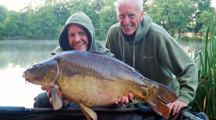 James and Graham with the Dark Knight at 32lbs 12oz