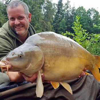 James with Audrey at 31lbs 12oz