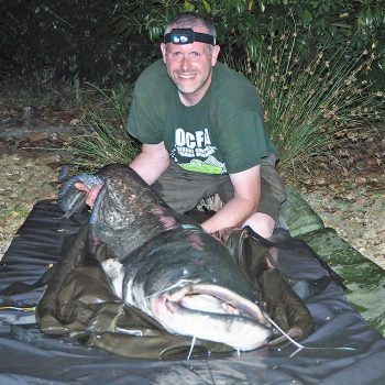 James with a 106lb catfish