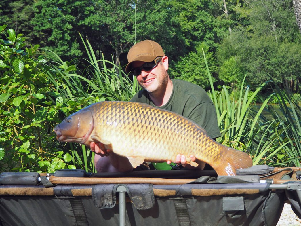 James with a 28lb common