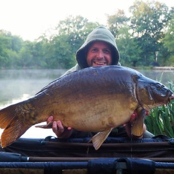 James with the Dark Knight at 31lbs 12oz
