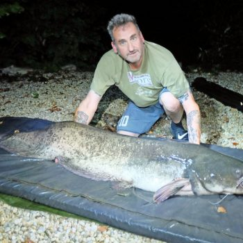 Jeff with a 91lb catfish