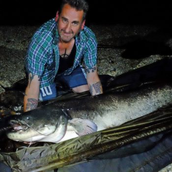Jeff with a 96lb catfish