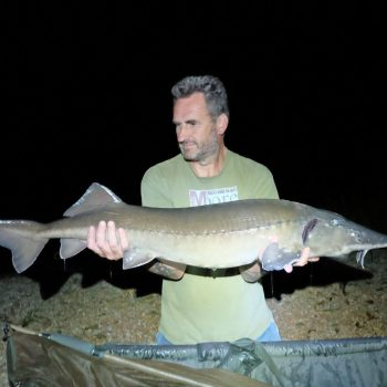 Jeff with the 23lb sturgeon