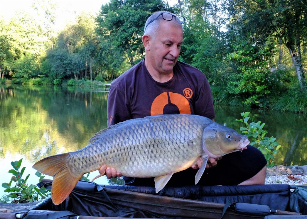 Peter with a 28lb common