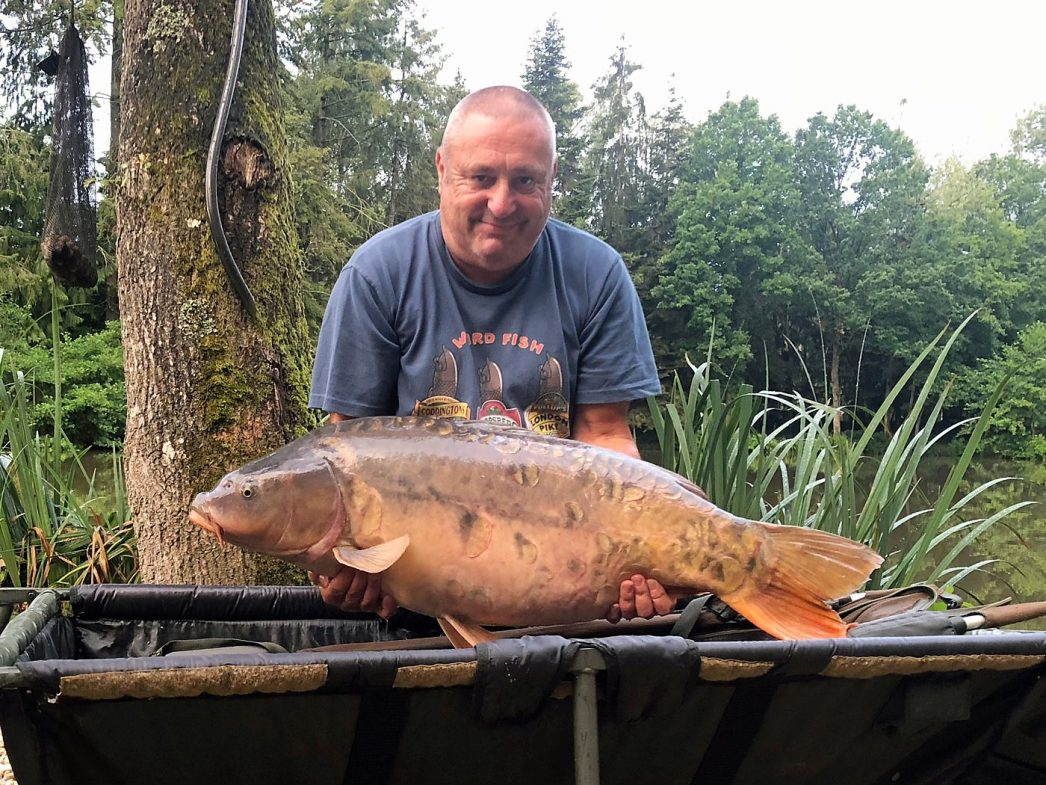 Steve with the Sub at 35lbs 8oz