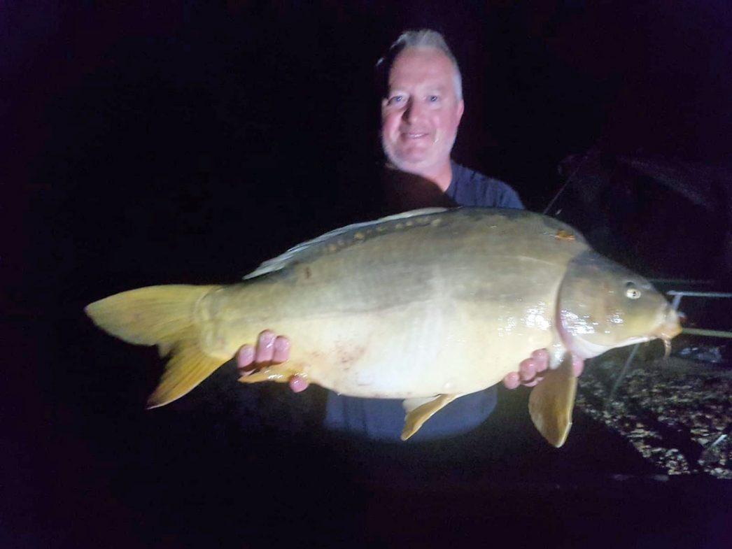 Dave with a 26lb mirror carp