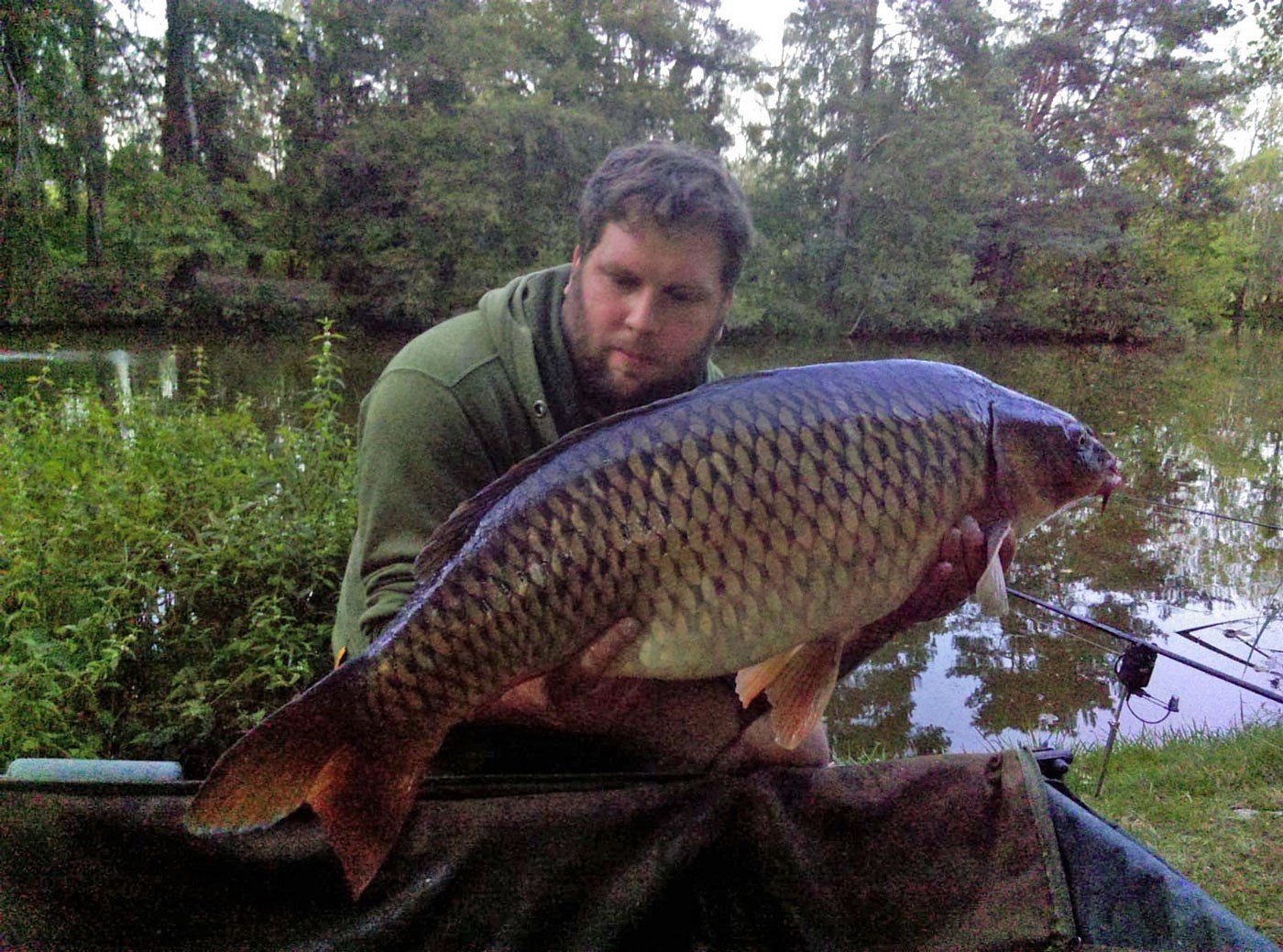 Jay with a 27lb common