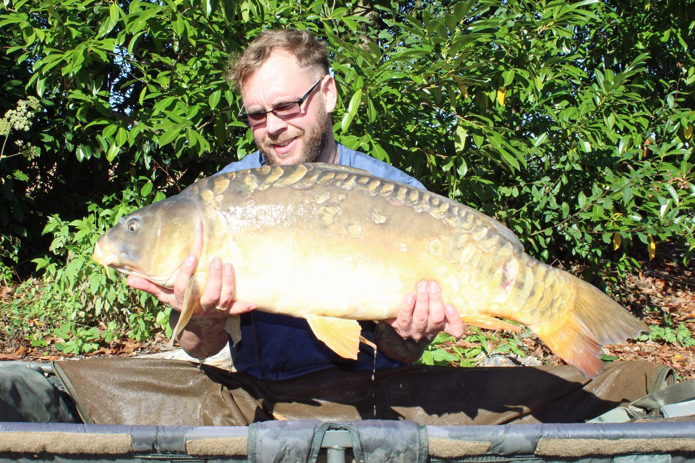 Rob with The Duchess at 27lbs