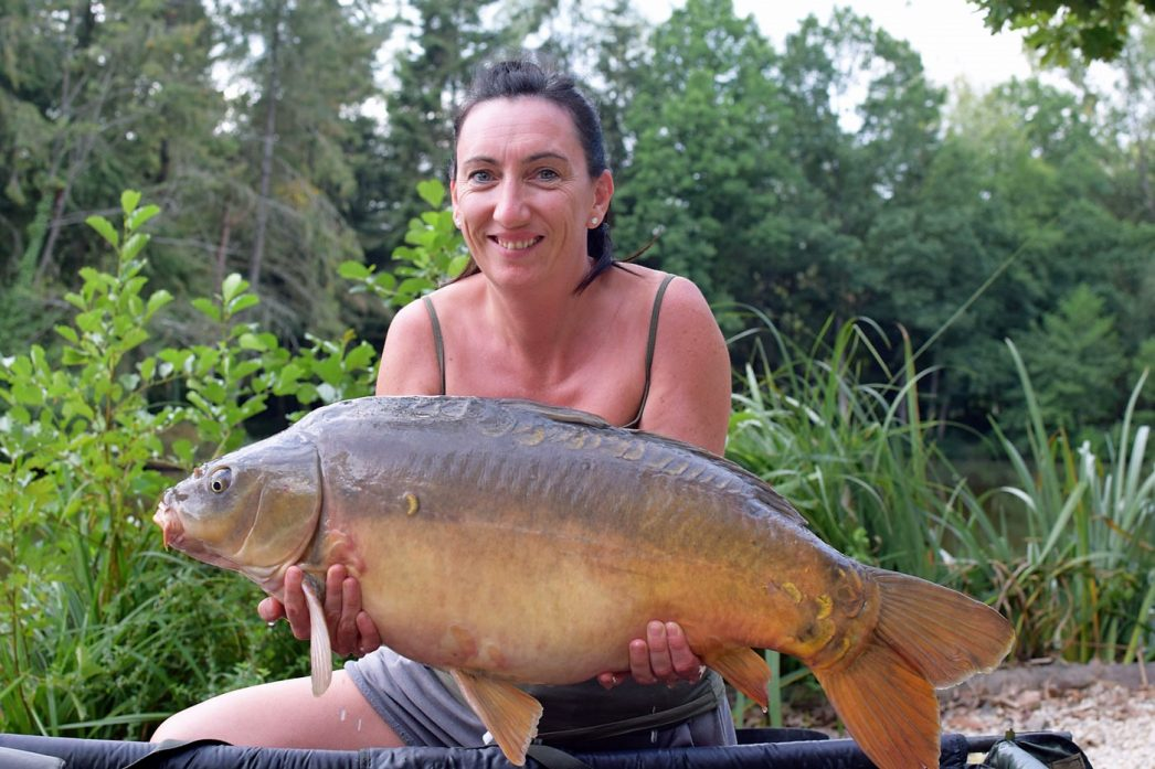 Stacy with Small Scale at 25lbs