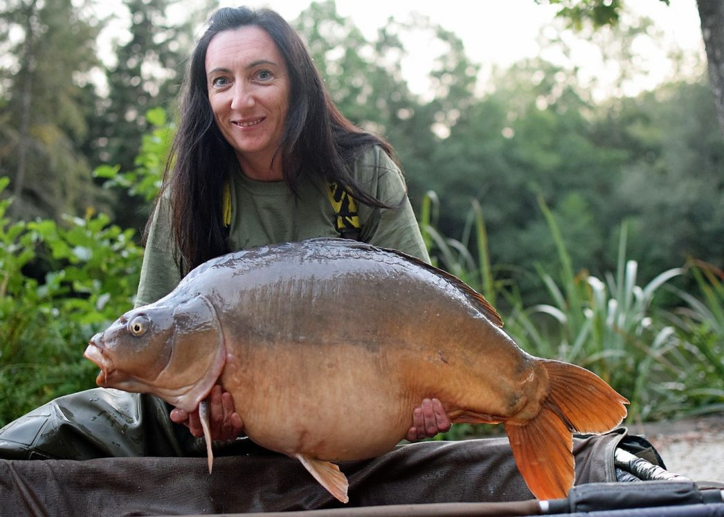 Stacy with the Football at 33lbs
