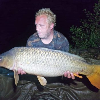 Stuart with a 27lbs 8oz common carp
