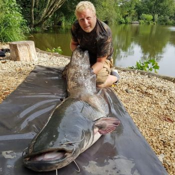 Stuart with a 93lb catfish