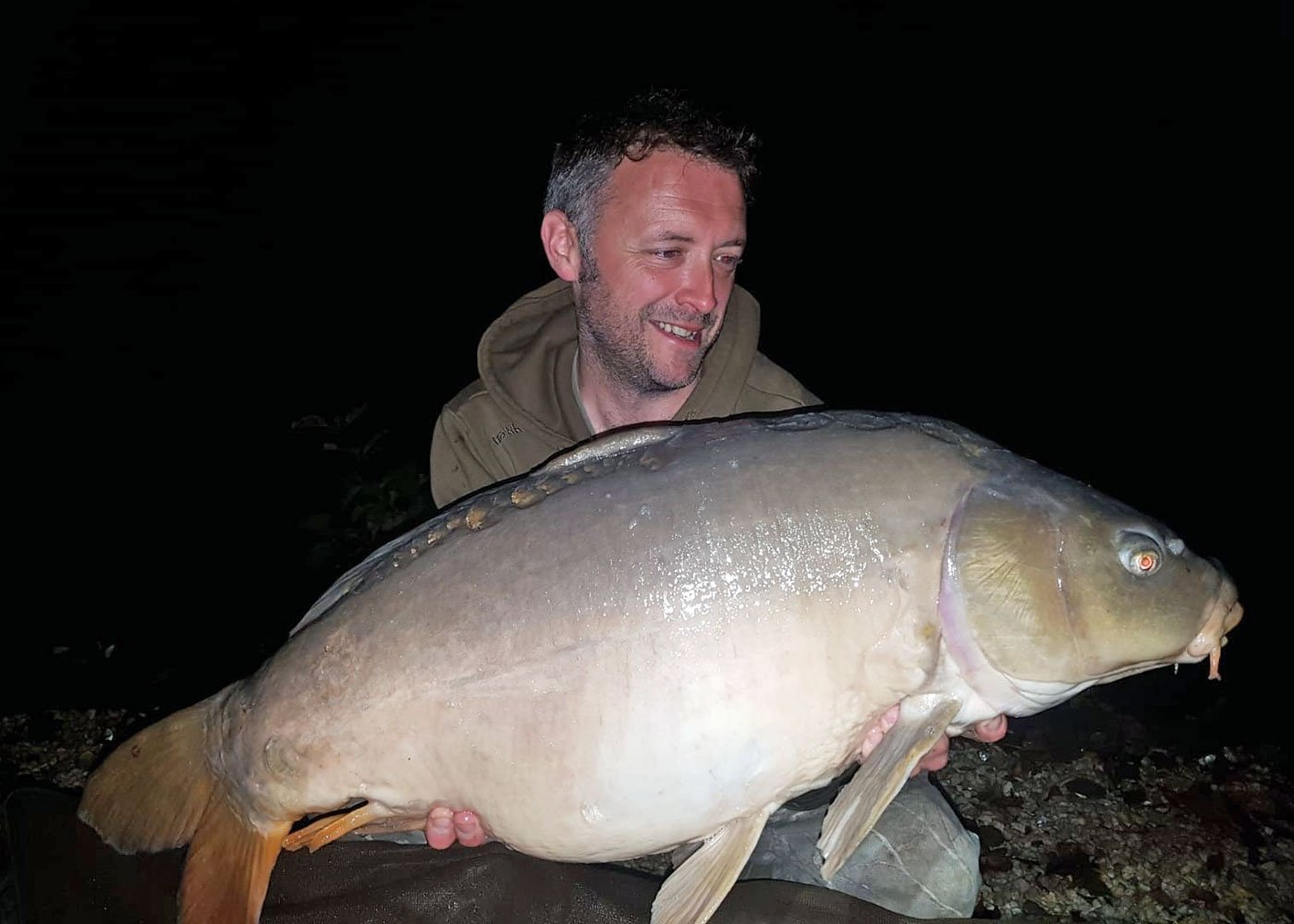 Dean with Moonscale at 31lbs