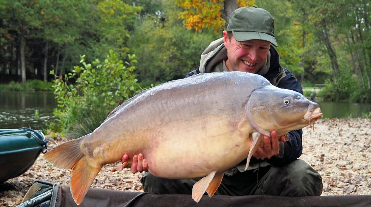 Matt with Mr Angry at 45lbs 8oz