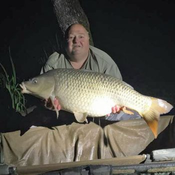 dean carp fishing in france with a 30 pound common carp