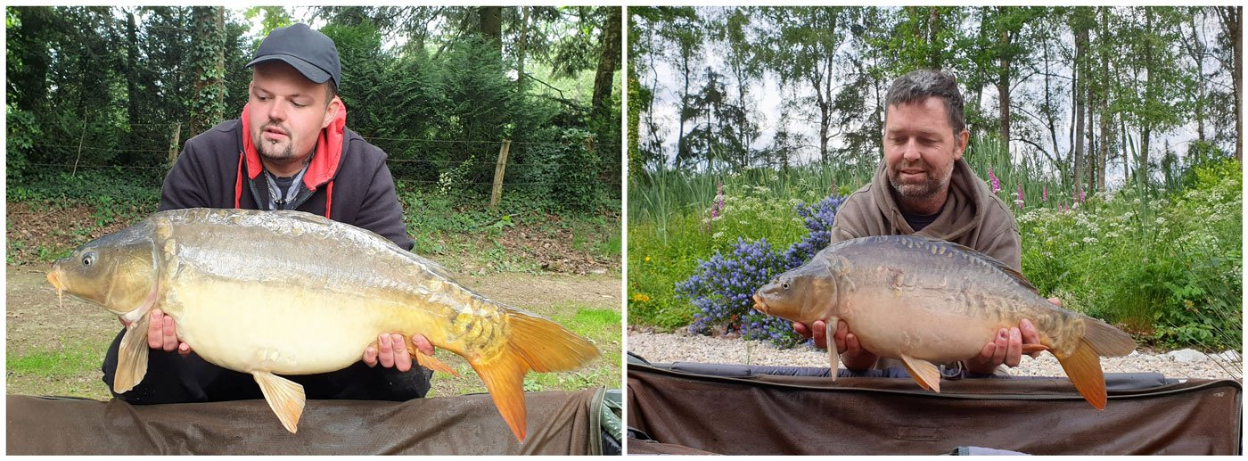 father and son carp fishing together