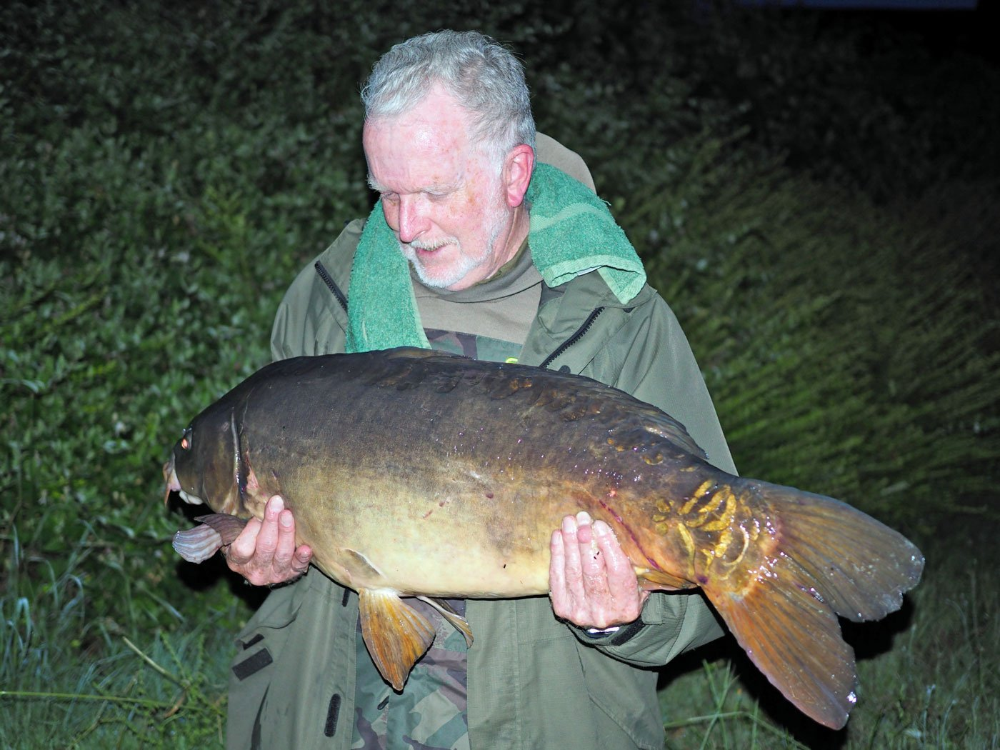 richard with a 37 pound river carp in france