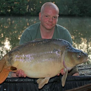 Craig with a mirror carp of 28lbs 10oz
