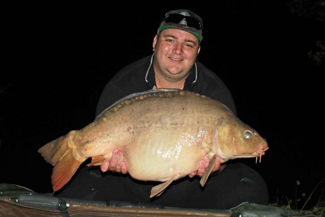 Craig with a mirror carp of 31lbs