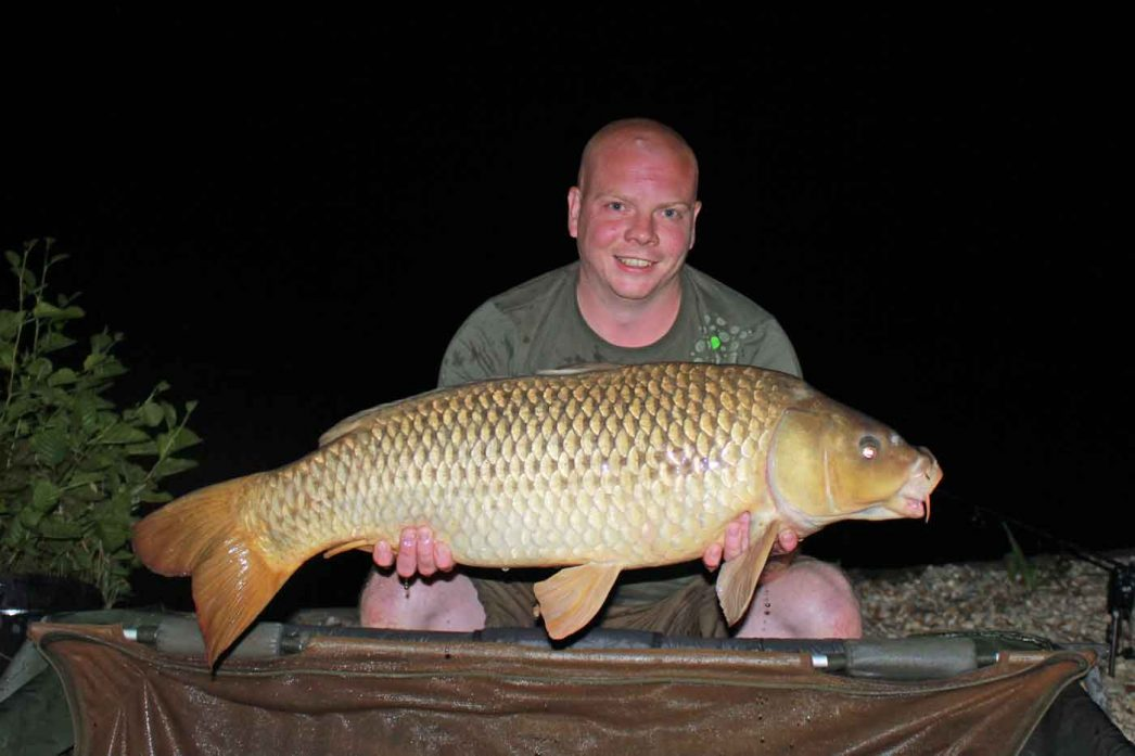 Craig with a 23lb common