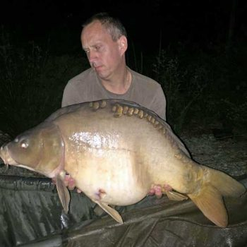 maurice with a 29lb mirror carp in july in france