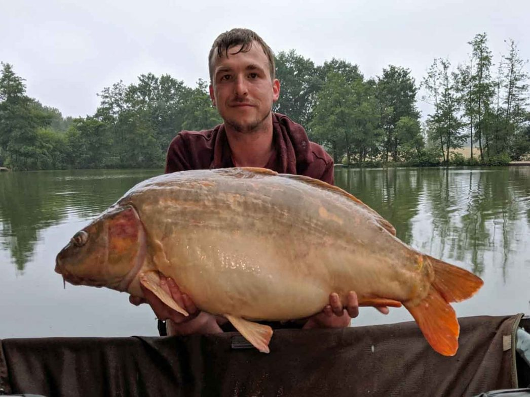 Jon with Hyphen at 37lbs carp fishing holiday